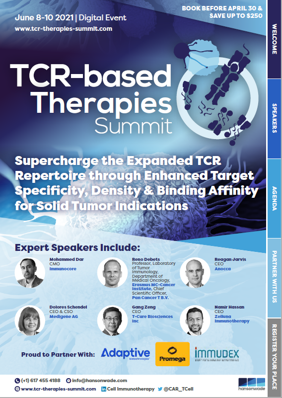 TCR-based Therapies Summit Full Event Guide front cover